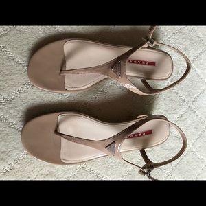 Prada wedge sandals - amazing nude color!!